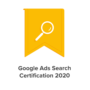 Google Ad Search Certification 2020 of Eight Media