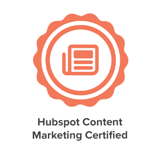 Hubspot Content Marketing Certification of eight media