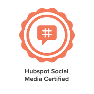 hubspot social media certification of eight media