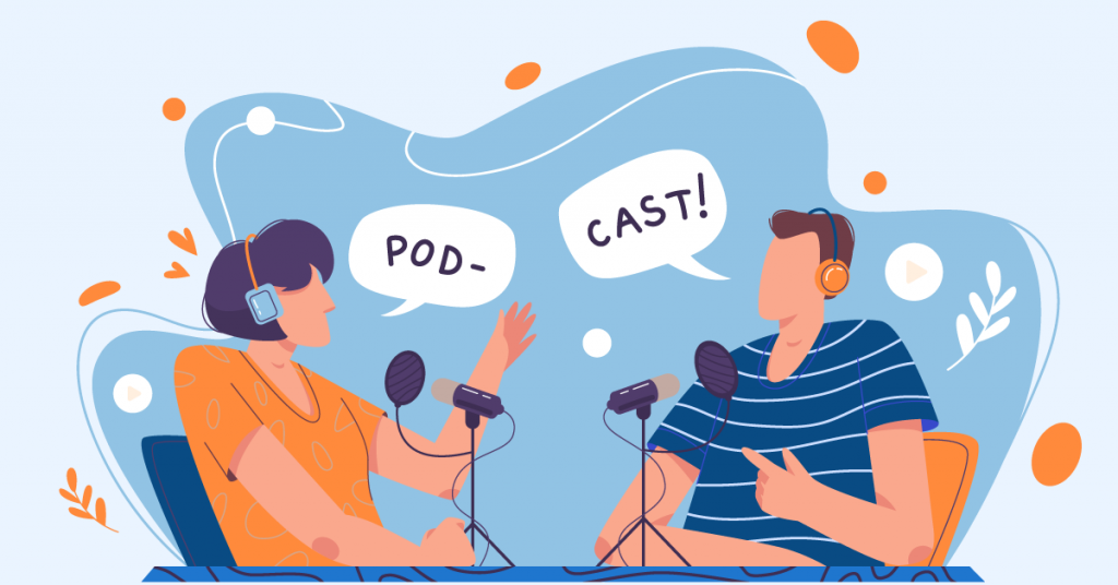 Podcasts is a new content medium that keeps the audience more engaged.