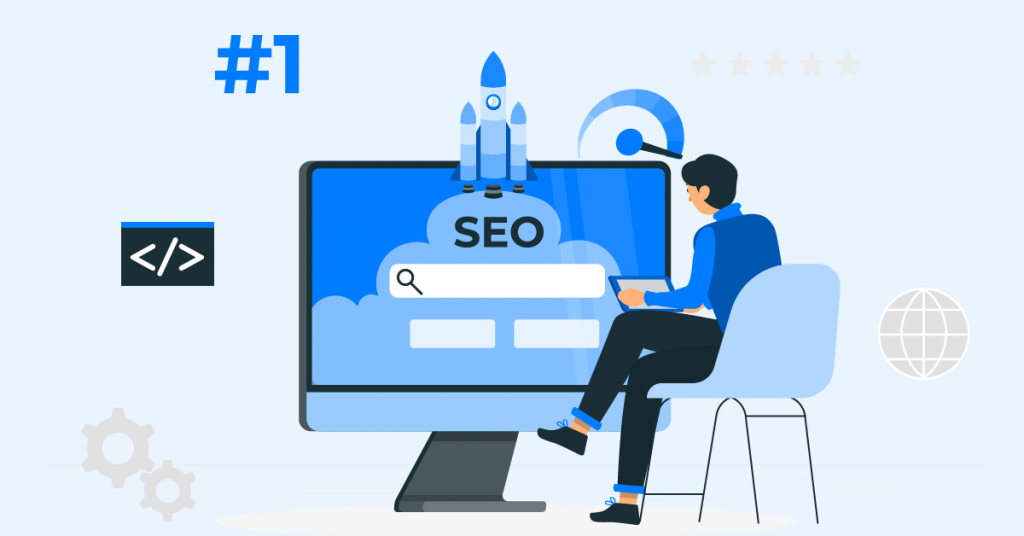 SEO increases a business' traffic to the website by lifting the website's ranking on search results