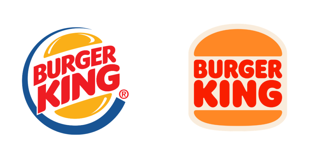Burger King rebranded using retro colors for a nostalgic feel