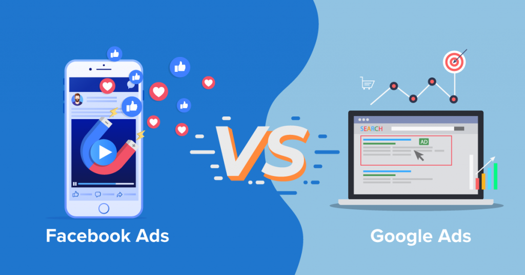Both Google Ads and Facebook Ads works mainly the same way. The key difference is the intent.